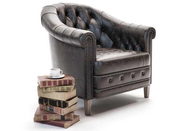 chambery armchair 3d model