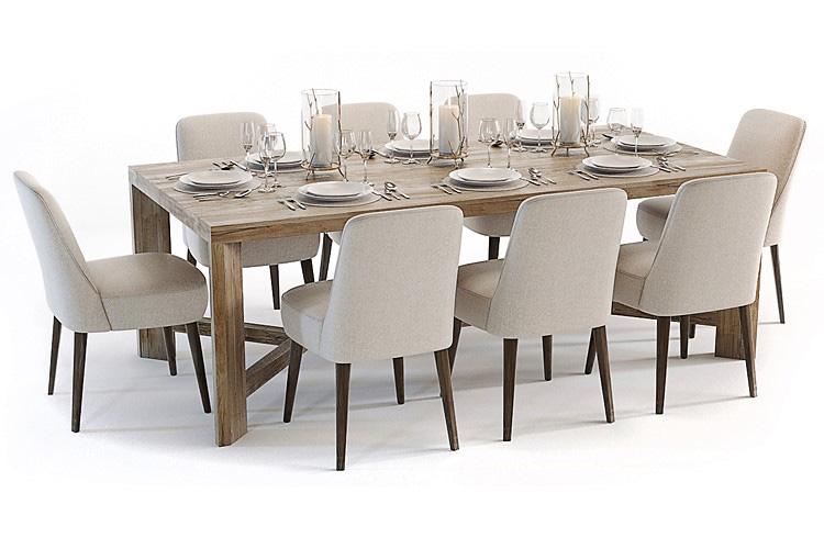 3d furniture table set