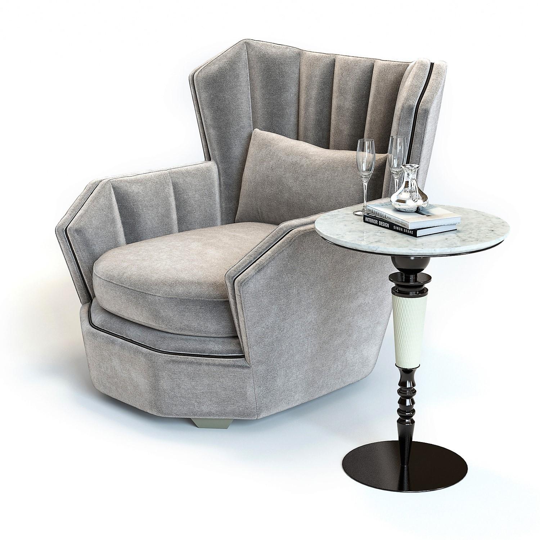 hemingway armchair 3d model