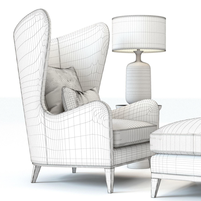 monroe armchair 3d model