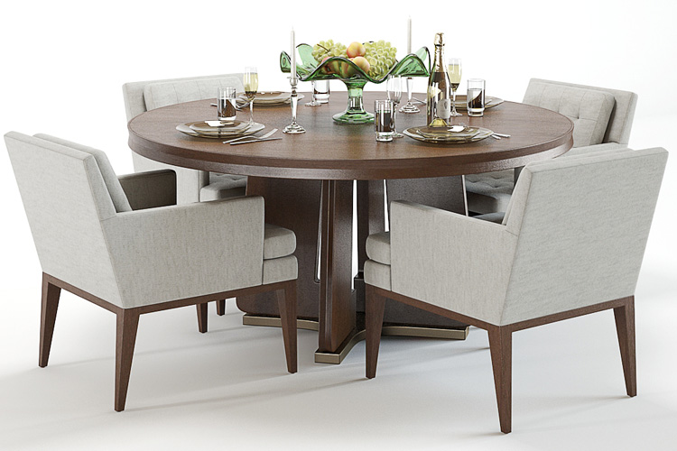 3d model table and chairs