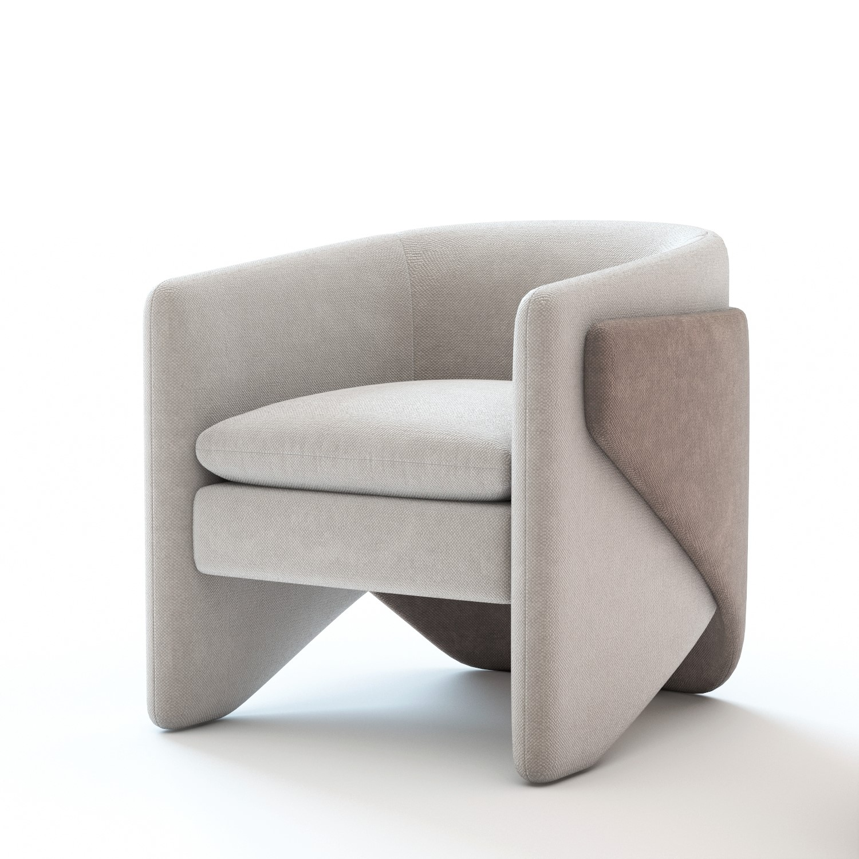 3d model thea armchair